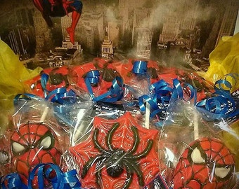 Spiderman Chocolate Lollipop