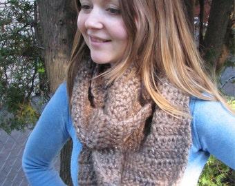 INFINITY SCARF - christmas gift - winter scarf - fall fashion - crochet - handmade - christmas