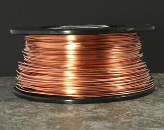 Square Dead Soft 22, Copper Wire, 22 Gauge Square Wire, Dead Soft, Wire for Cabochons