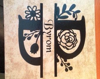 Decorative Monogrammed Tile