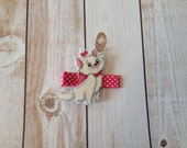 Adorable kitty resin hair clip
