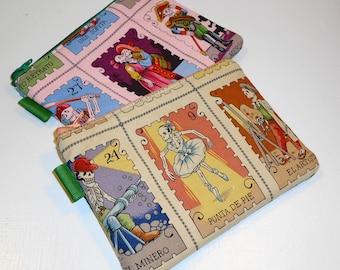 Medium Sized Padded Zippies (Folklorico Cartas Marcada) -- 2 Pack Promo (Camera / IPod / Cell Phone Case)