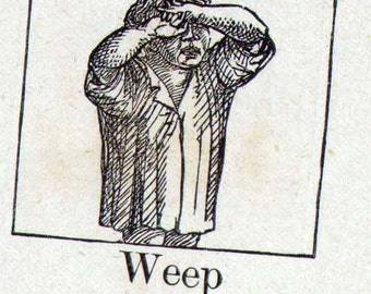 Weep Mennonite Children's Picture Dictionary 1890 Vintage Victorian Engravings Great For Scrapbooking 43
