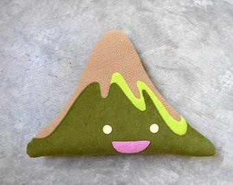 Mount Fuji Plush Cushion, Mount Fuji Toy, Mountain Decor, Mountain Pillow, Mountain Plush Toy, Huggable Mountain, Fuji San 1