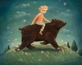 Dream Animals Bear Boy Print by Emily Winfield Martin