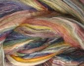 4 oz Merino Tussah Silk Handpainted Roving Top Spinning Fiber Jamaica  SK100