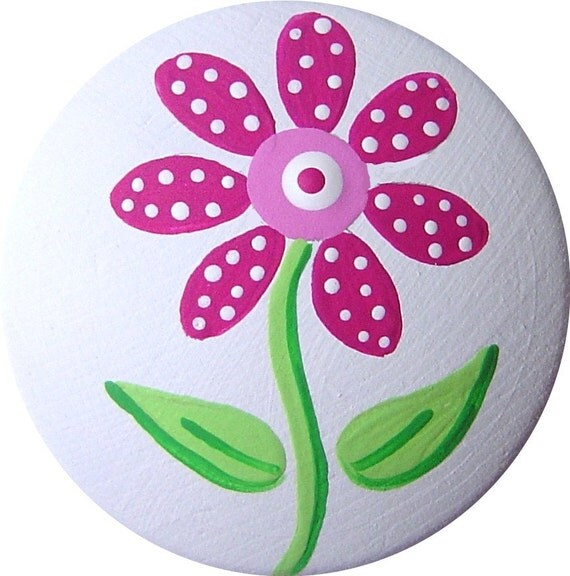 Flor rosa pintado decorativo aparador madera muebles chica niños ...
