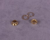 Gold/Brass Grommets & Washers 1/4 inch - 20 pieces (GW14G-20)