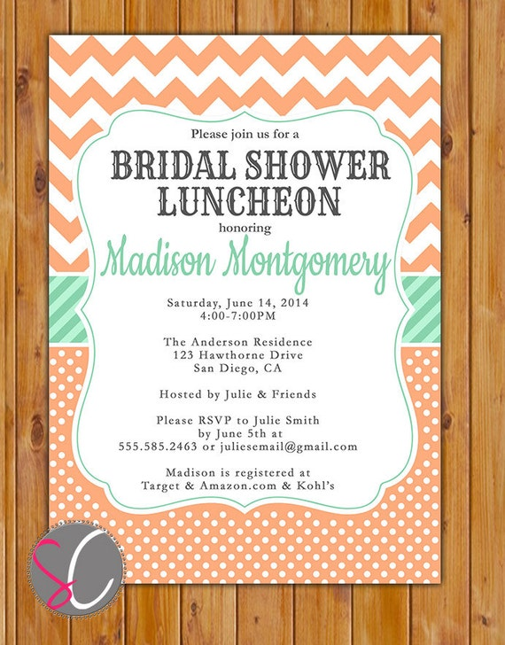 Printable Bridal Shower Invitation as best invitation ideas