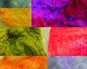 Silk Mawata Hankies Mix of Colours