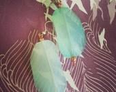 lucite ooal sea earrings