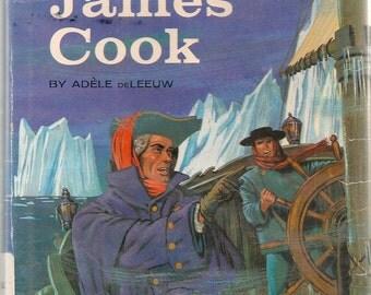 James Cook a World Explorer - Adele DeLeeuw - Nathan Goldstein - 1963 - Vintage Kids Book