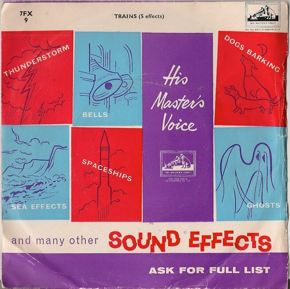 Trains (5 effects) and many other sound effects - 45 RPM record