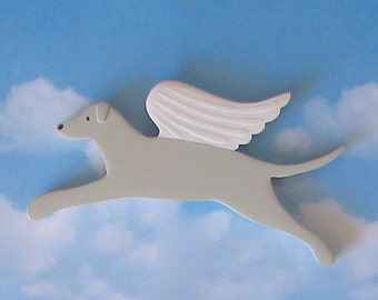 Whippet Greyhound Angel Dog Rustic Wood Decoration