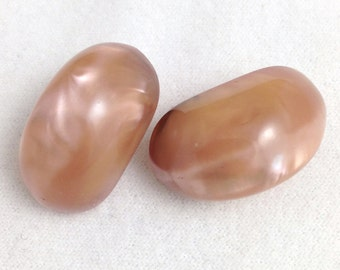 Vintage 1960s Moonglow Lucite Jelly Bean Earrings