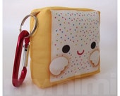 Toy Keychain, Poptart Pillow, Rainbow Sprinkles, Toaster Pastry, Kawaii Food, Kawaii Toy, Backpack Charm