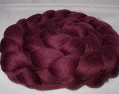 AUBERGINE, merino wool roving, spinning fiber, felting wool, 20 micron, wet/nuno/needle felting wool, dreads, dolls hair, purple, 100g,3.5oz
