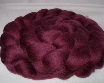 AUBERGINE, merino roving, spinning fiber, felting wool, 20 micron, felting fiber, dreads, dolls hair, purple, purple roving, 100g, 3.5oz