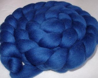 CORNFLOWER, wool roving, spinning fiber, felting wool, merino wool roving, 20 micron, felting wool, dreads, dolls hair , blue roving, 3.5oz