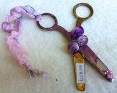 Embellished Scissors - BRAVE - Purple and Gold