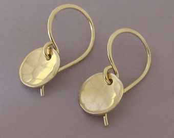Tiny Pool Earrings in 14k Yellow Gold