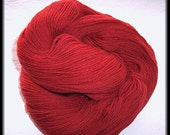 ON SALE Wool-Camel Blend Hand-dyed Hand-plied 3-ply Sock Yarn - Russet - 3.8 oz - 107 g - 444 yds - 405 m