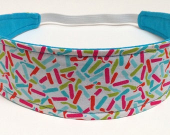 Headband for Girls, Child',s Children's Headband  -  Reversible Fabric Headband - CONFETTI