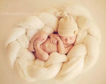 PATTERN Elf Knots newborn baby hat