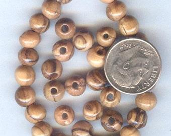 NEW 6mm Fabulous Olive Wood Round Wood Beads 25pcs