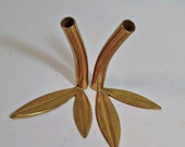 Charming Little Brass Bud Vases in the Form of Stems