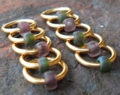 Dangle Free Knitting Stitch Markers - Earth and Moss - Choose Ring Size and Quantity