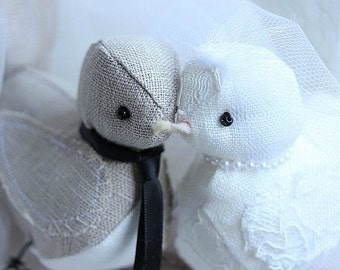 Wedding bird cake topper - Bird Cake Topper - Wedding Love Birds Cake Topper - MADE TO ORDER