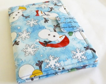 Winter Kindle Cover, Snowman Kindle Case also fits Kobo Touch