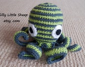 Octohug soft stuffed crocheted toy for children, babies, toddlers or pets - octopus
