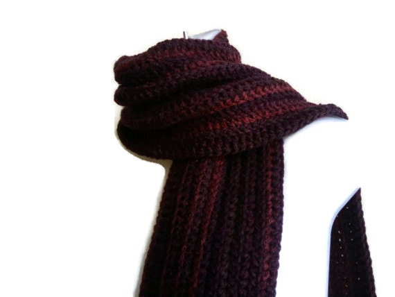 Thick Eggplant Purple Scarf Aubergine Men Unisex DREW Ready to Ship