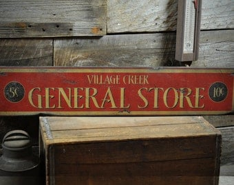 Custom General Store Sign - Rustic Hand Made Vintage Wooden Sign ENS1000330