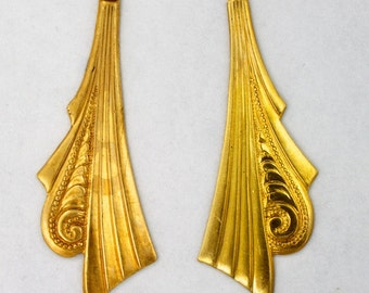 40mm Art Deco Dangle (2 Pcs)  #2375