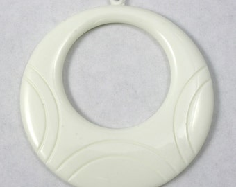 54mm White Hoop (2 Pcs) # 1441