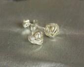 Handmade Silver Knot Stud Earrings