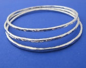 Hammered Bangles of Beauty