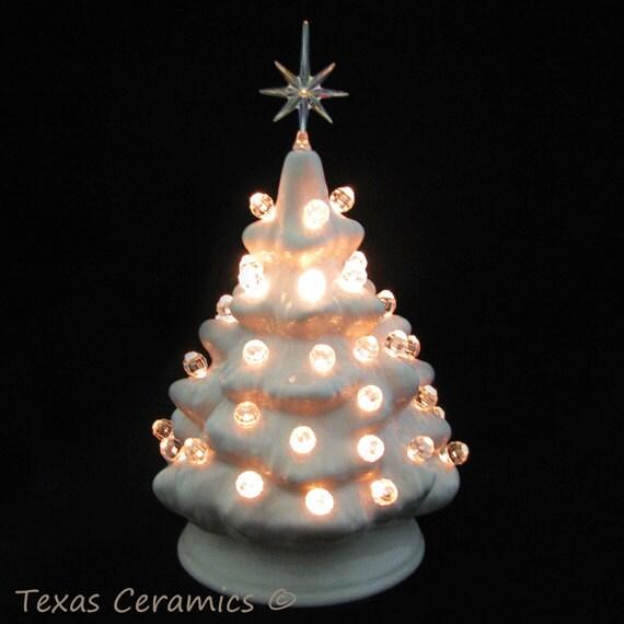 Mini Black Christmas Tree: Pink Mini Ceramic Christmas Tree Traditional Clear Lights And