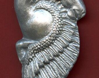 Polymer Clay Faux Faux Silver Pegasus/Unicorn   Undrilled  Cab SUNI 2