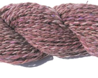Handspun Alpaca Yarn for Knitting, Crochet, Weaving, Felting, Burgundy Yarn,  Bulky Yarn, 116  yards
