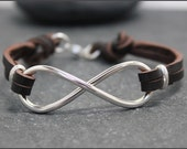 HEAVY INFINITY Cow Leather, Bracelet II, for men,Father's day