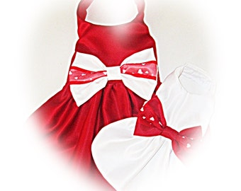 Fancy Dog Dress Valentine Wedding Bride Dog Dress Match the bow to your colors Bridal Accessory Doginthewedding dressthedog