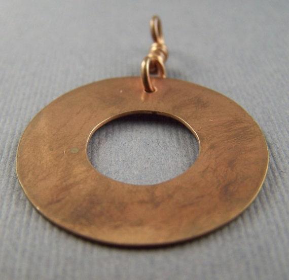 Copper Washer  Pendant