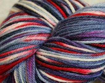Patriot - hand dyed superwash merino sock yarn