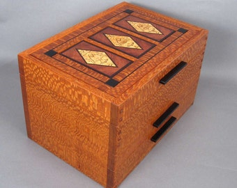 "Arts-and-Crafts Style Jewelry box Size: 8.5"" x 13"" x8"""