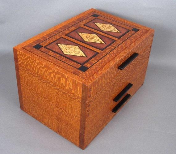 "Arts-and-Crafts Style Jewelry box Size: 8.5"" x 13"" x8"""