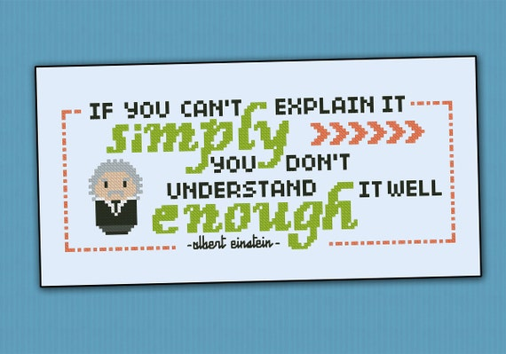 Albert Einstein Quote - PDF cross stich pattern